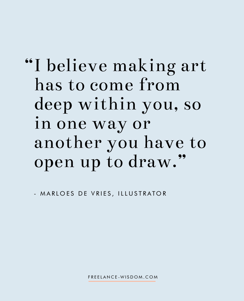 Marloes De Vries | Opening up to draw | Freelance Wisdom