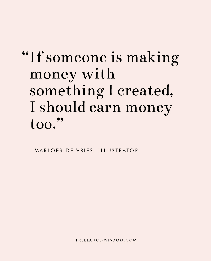Marloes De Vries | on getting paid for your work | Freelance Wisdom