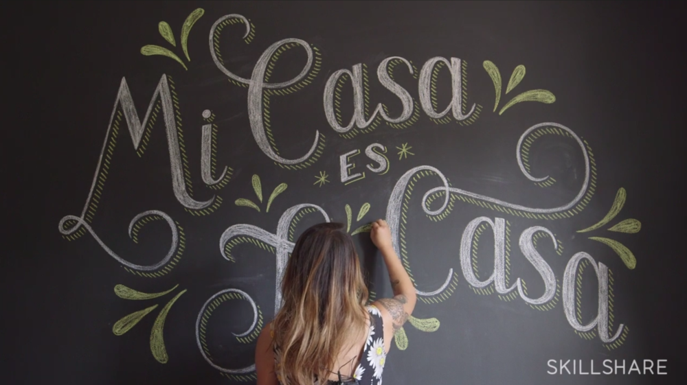 Hand Lettering for Chalk Murals | Lauren Hom | Skillshare | Freelance Wisdom