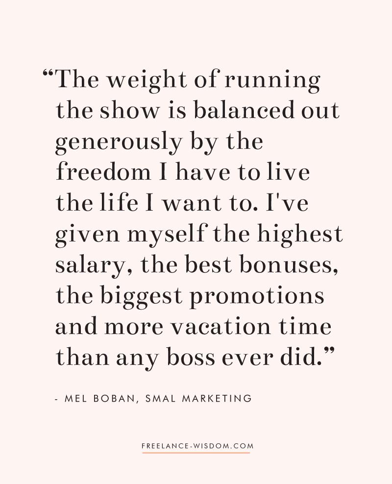 Mel Boban | Freedom of Freelance | Freelance Wisdom