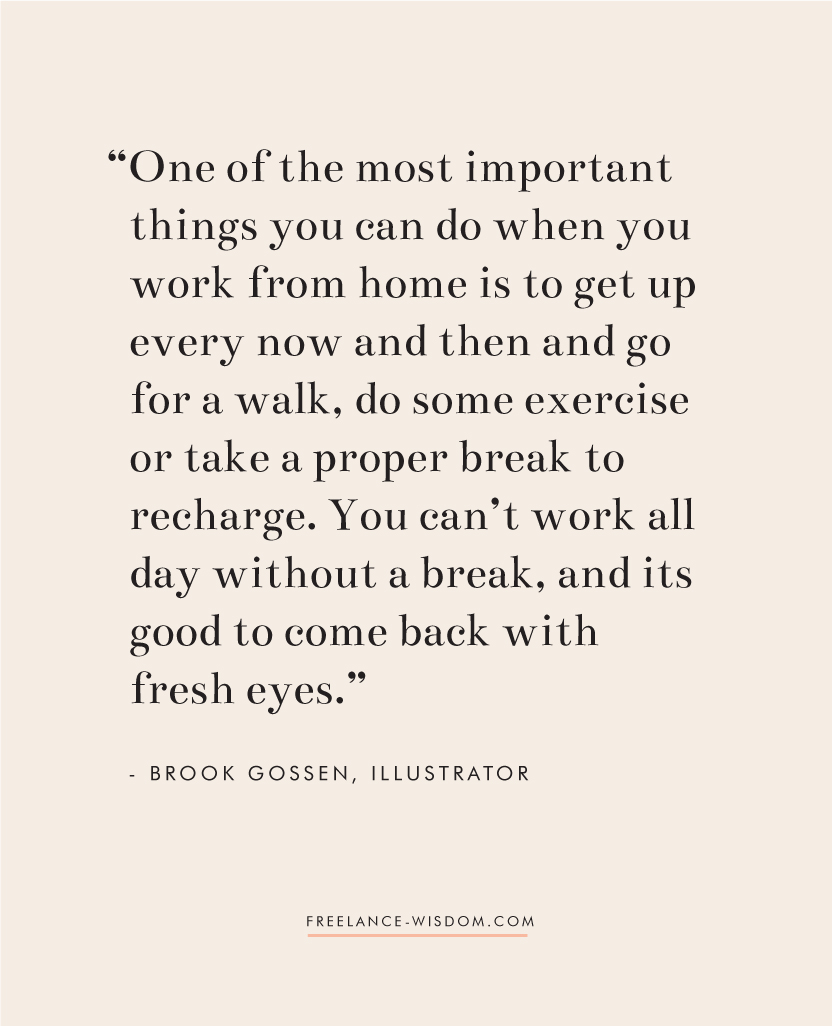Brook Gossen | Working from home | Freelance Wisdom