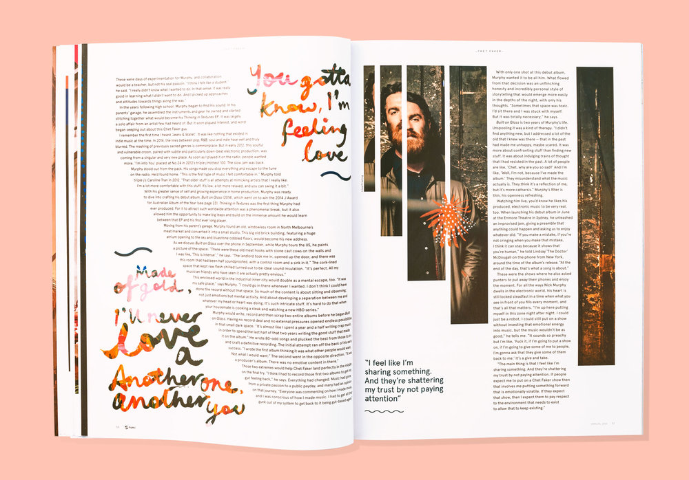 Nat Carroll | triple j magazine | Chet Faker Spread | Freelance Wisdom