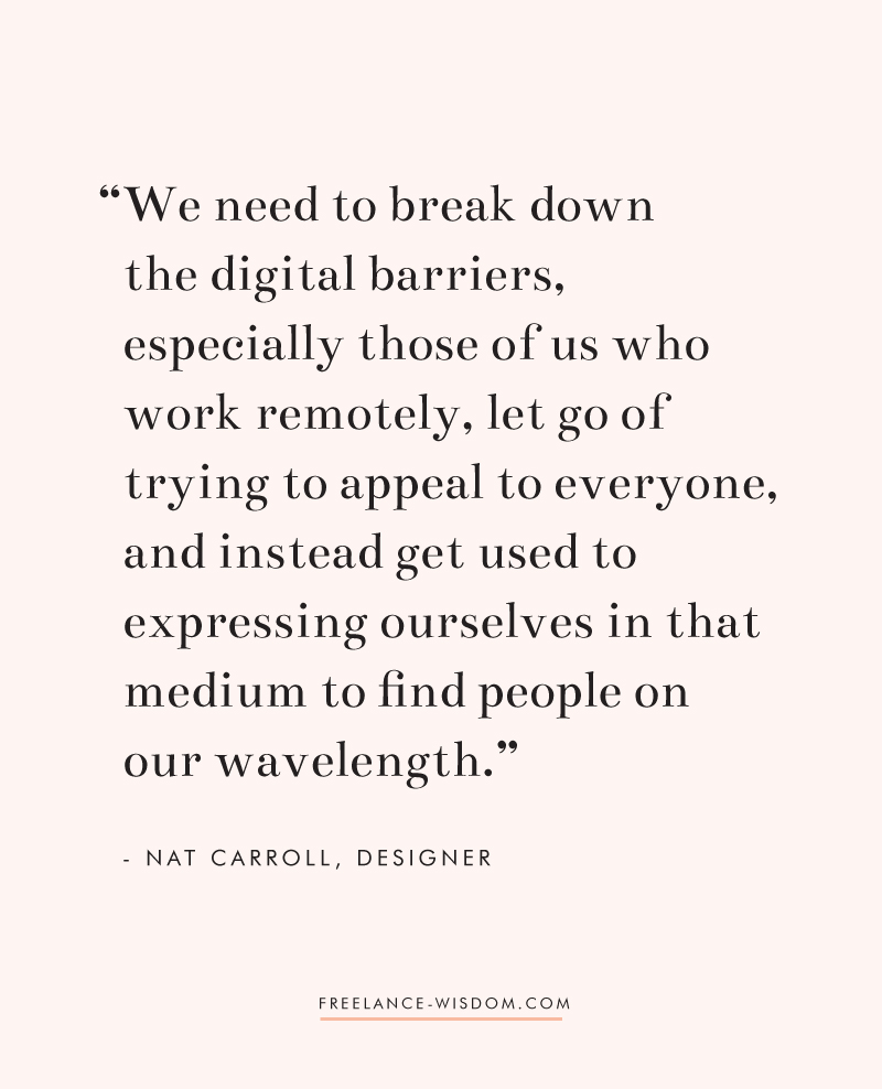 Nat Carroll | breaking digital barriers | Freelance Wisdom