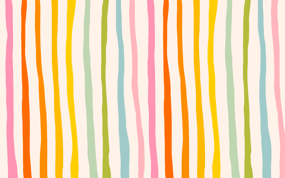 Katie Thierjung | Rainbow Stripe Desktop Wallpaper | Freelance Wisdom
