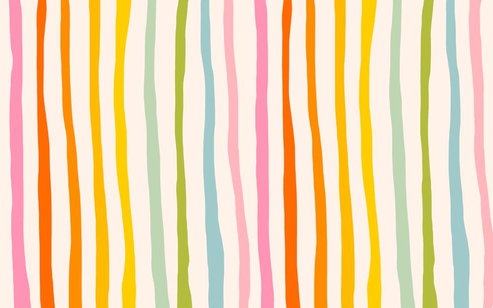 Katie Thierjung | Rainbow Stripe Desktop Wallpaper | Freelance Wisdom