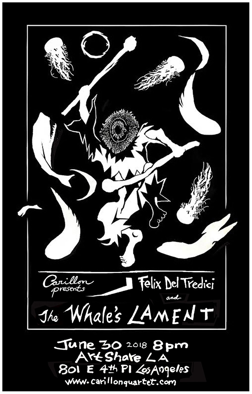 Carillon Presents: The Whale's Lament - Poster by: Robert Del Tredici
