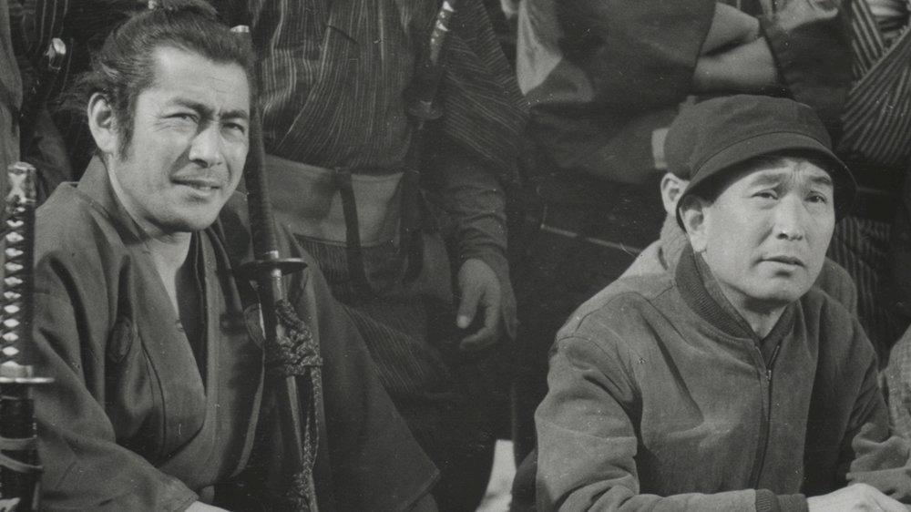 Toshiro Mifune and Akira Kurosawa in Mifune: The Last Samurai