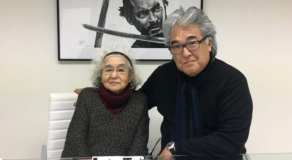 """February 9, 2017 Teruyo Nogamiwas Kurosawa's script supervisor for 43 years, from RASHOMONin 1950 to his last film,MADADAYO,in 1993. We filmed her for MIFUNE; THE LAST SAMURAI in September 2014 at the Edo-Tokyo Open-Air Architectural Museum on the outskirts of Tokyo. The first time I met her, I was intimidated. She's a no-nonsense person and a walking history of Japanese film. But after interviewing her and getting to know her through from her image and voice in the edit room, I was anxious to see her again.  When we met again at the Mifune Productions office in Setagaya-ku, 90 year-old Nogami-san was as sharp and feisty as ever. I was relieved that she liked my film. I reread her wonderful autobiography, WAITING FOR THE WEATHER, and asked her about her relationships with the great silent-era film director Mansaku Itamiand his son,Yuzo Itami (the director of TAMPOPO),whom she used to babysit. When we parted she said, """"Be careful not to slip in the shower!"""" Good advice.."""