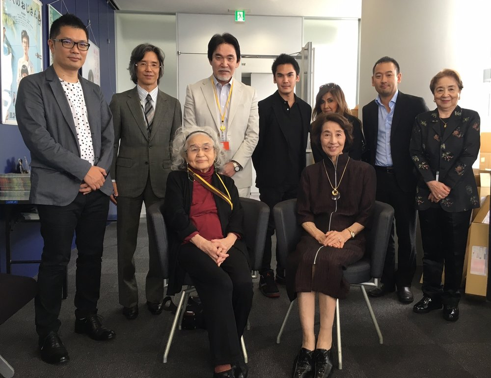 2016 Sneak Preview in Tokyo for the producers and cast of MIFUNE: THE LAST SAMURAISeated, l to r: Teruyo Nogami and Kyoko Kagawa. Standing, l to r: Kensuke Zushi (producer), Toichiro Shiraishi (producer), Shiro Mifune, RikIya Mifune, Akemi Mifune, Taro Goto (producer). An incredible group of people who made the impossible happen.