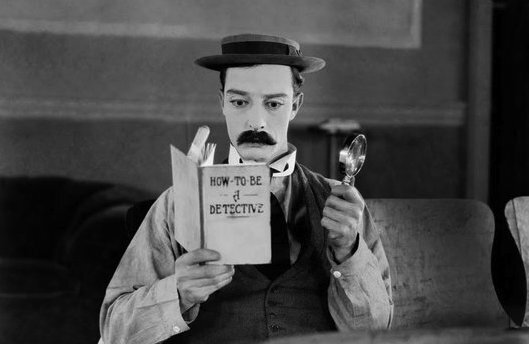 Buster Keaton in  The General  (1926).