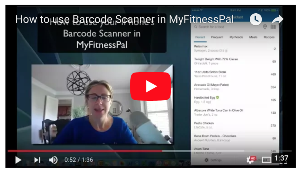 How to Use a Barcode Scanner in MyFitnessPal