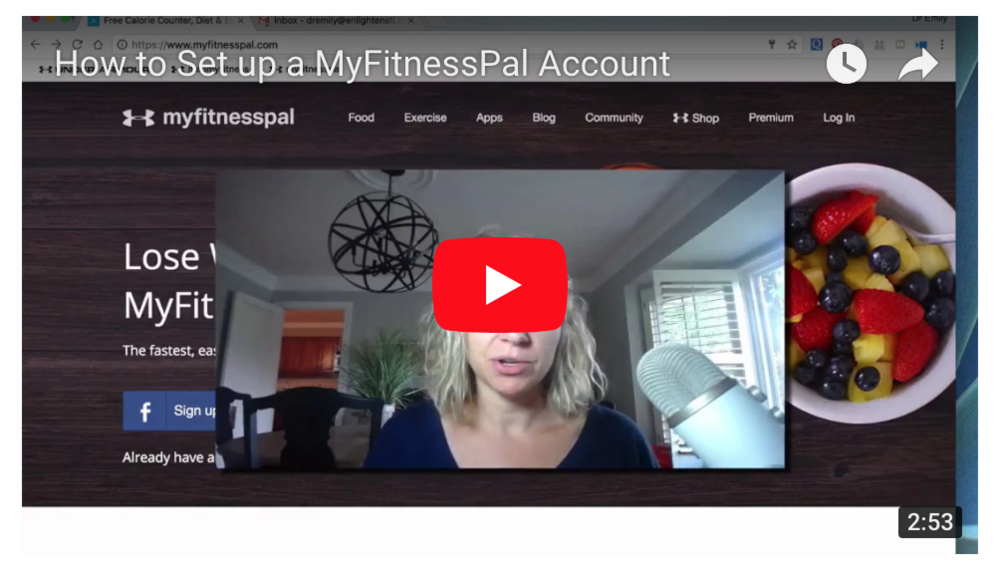 How to Set up a MyFitnessPal Account