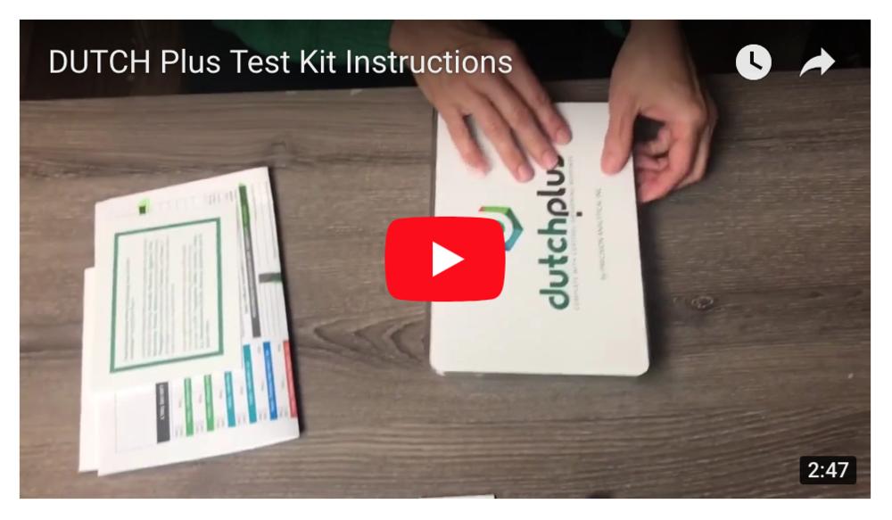 DUTCH Plus Test Kit Instructions