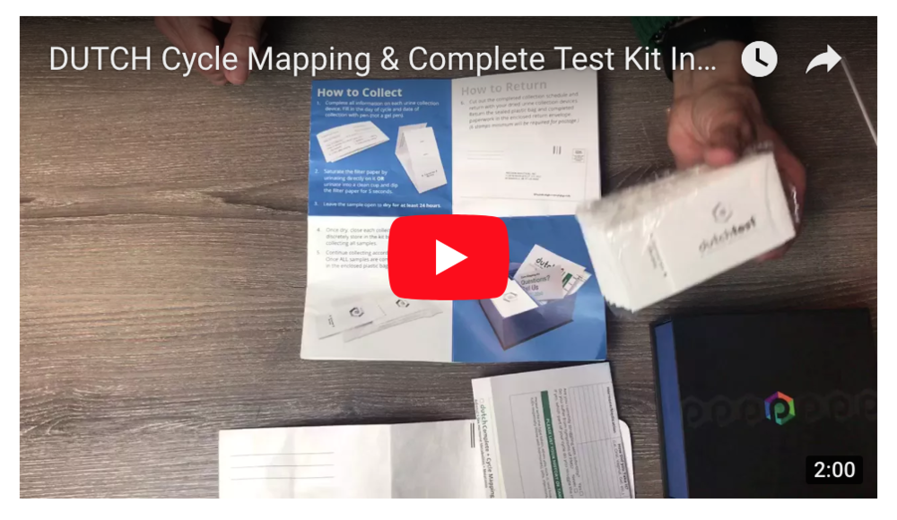 DUTCH Cycle Mapping & Complete Test Kit Instructions