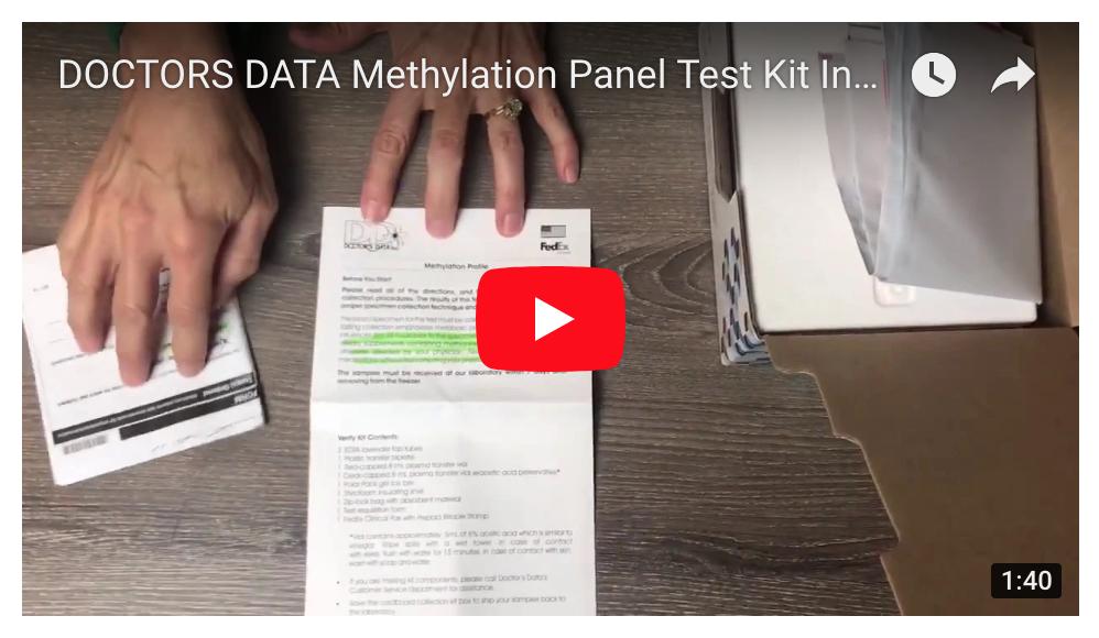 DOCTORS DATA Methylation Panel Test Kit Instructions