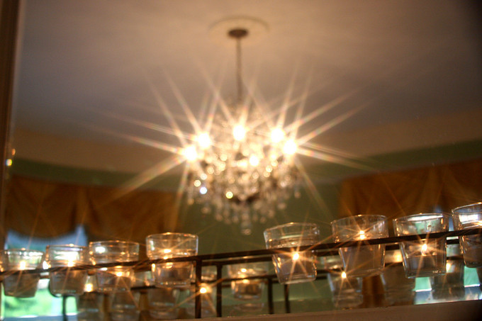 chandelier and candles