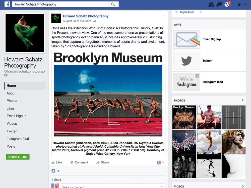 Facebook - Howard Schatz