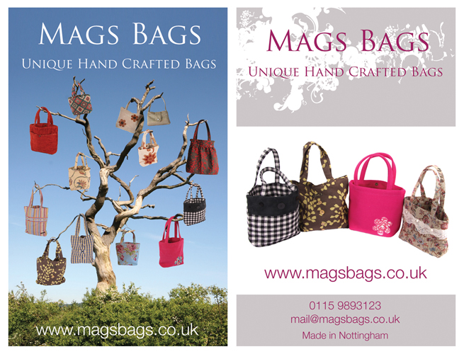 Mags Bags: Double sided Business Card Design for Mags Bags.