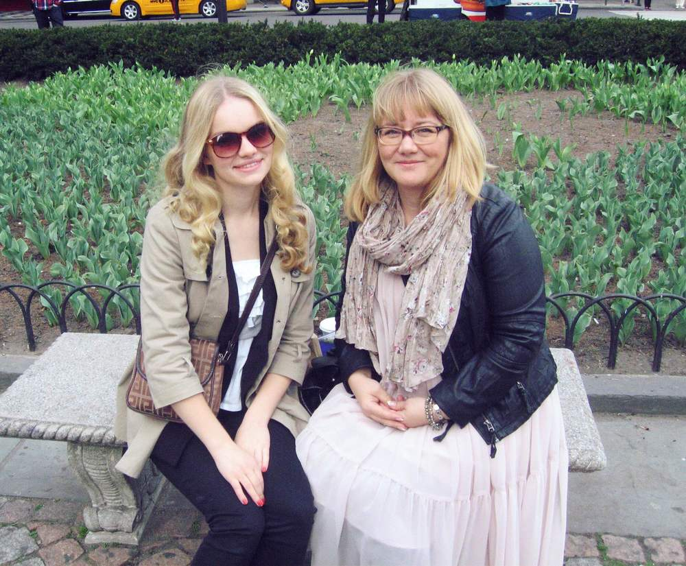 With mom looking like sisters in NYC four years ago.