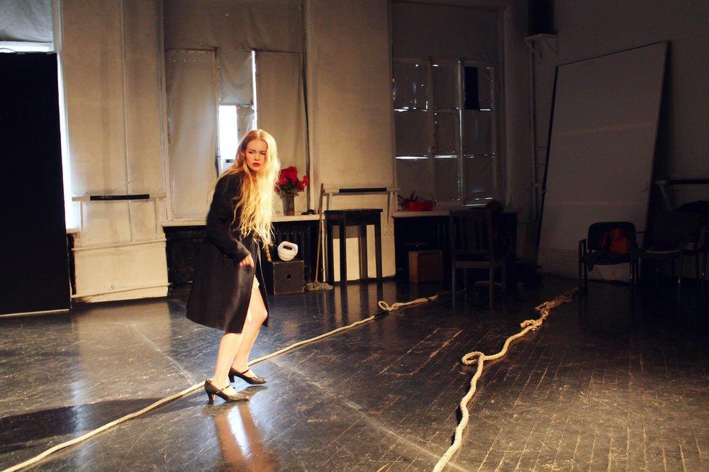 As Ophelia in Hamlet,St. Petersburg, 2013