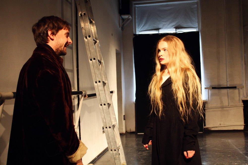 As Ophelia in Hamlet, St. Petersburg,2013