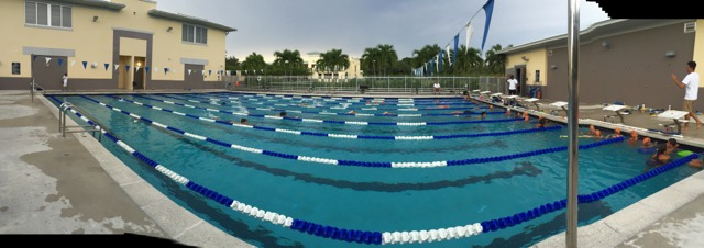 Panoramic Photo of our Pool