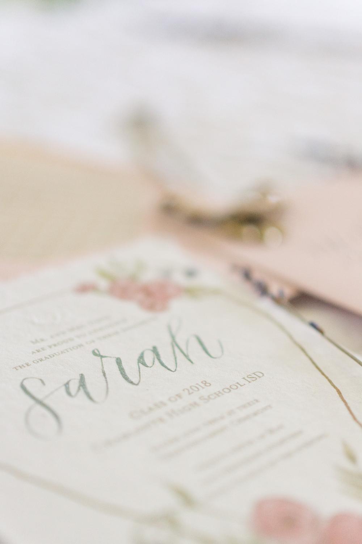 Graduation Invitation Design. Photo courtesy of Marissa Mayberry Photography.