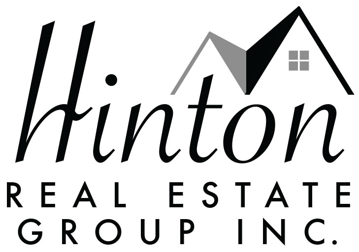 Black and White Hinton Real Estate Group Logo - 2050 Waqshtenaw Rd, Ypsilanti Michigan Real Estate office logo for properties for sale serving Livingston & Washtenaw County