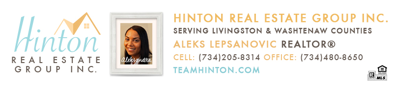 Aleksandra Lepsanovic Real Estate Broker email signature serving Livingston and Washtenaw County Real Estate