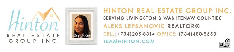 Aleksandra Lepsanovic Real Estate Broker email signature serving Livingston and Washtenaw County Real Estate