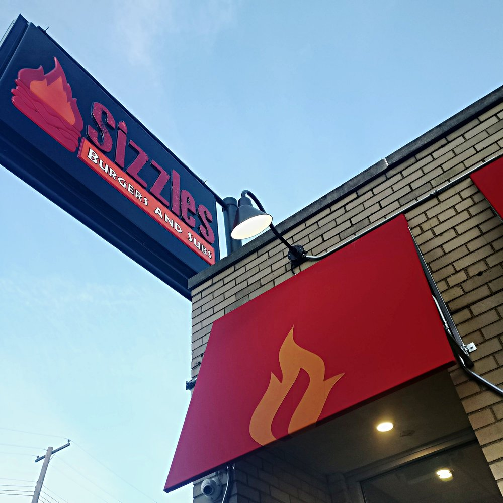 10. North Adams Street, home of Sizzles Burgers and Subs.