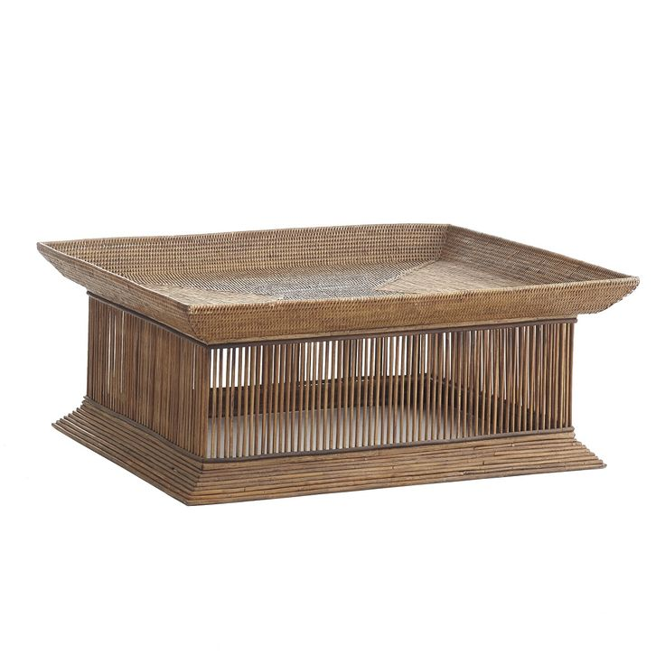 This spindle rattan coffee table from Wisteria makes my heart sing and can take your room from drab to fab in seconds