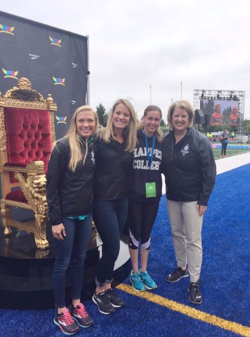- Left to Right: Katie Mackey, Brooks Beasts Track Club and 2018 USA Games Ambassador Erin Pategas, Director of Global Communications for Brooks Running CompanyBree Bogucki, Special Olympics AthleteBeth Knox, President and CEO of 2018 USA Games