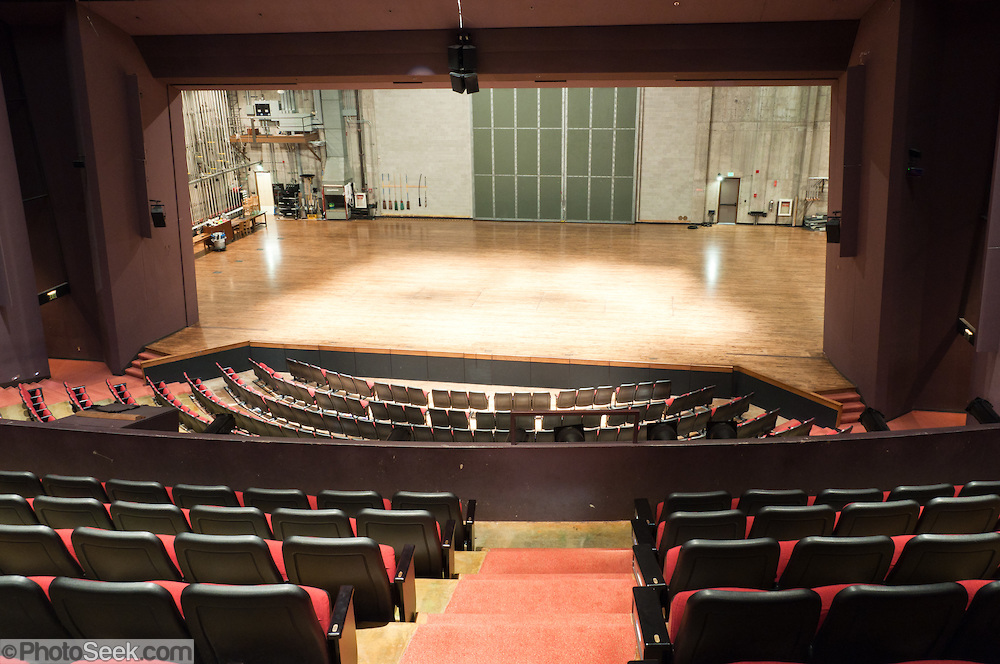 rows and tiers of seatting at Meany Hall auditorium, University