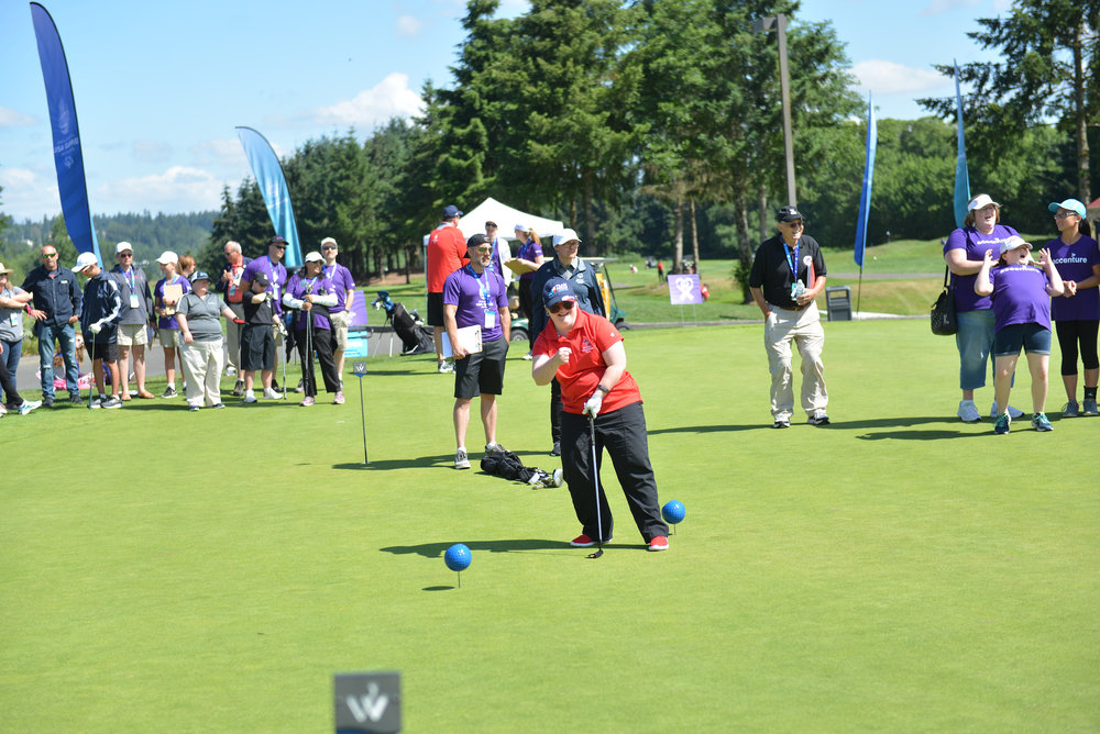 SPECIAL OLYMPICS GOLF AT WILLOWS RUN IN REDMOND, WASHINGTON
