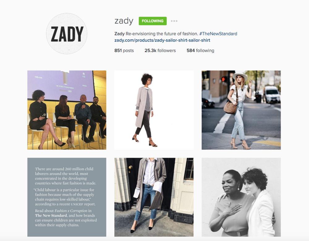 Zady is committed to raise awareness about the worst issues in the fashion industry.