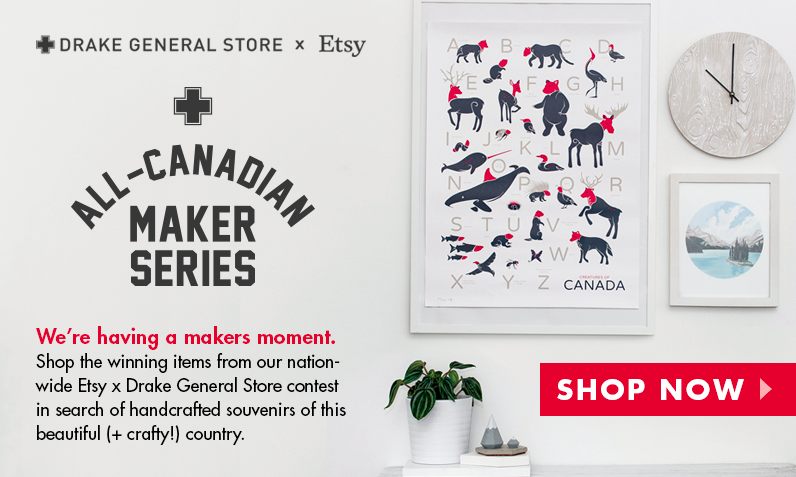 Exhibit A - An online ad by Toronto's own Drake General Store in collaboration with Etsy.