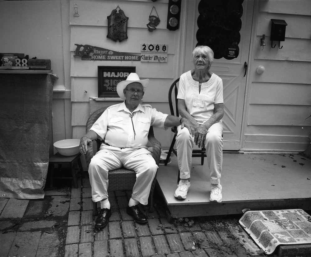 Major Grandparents, Portsmouth, OH. 2013. Silver Gelatin Print.