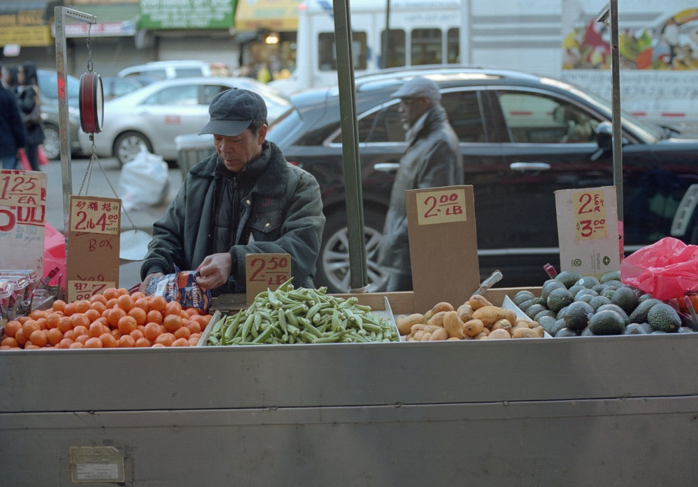 Street Vendor, New York City, NY. 2014. C-Print.