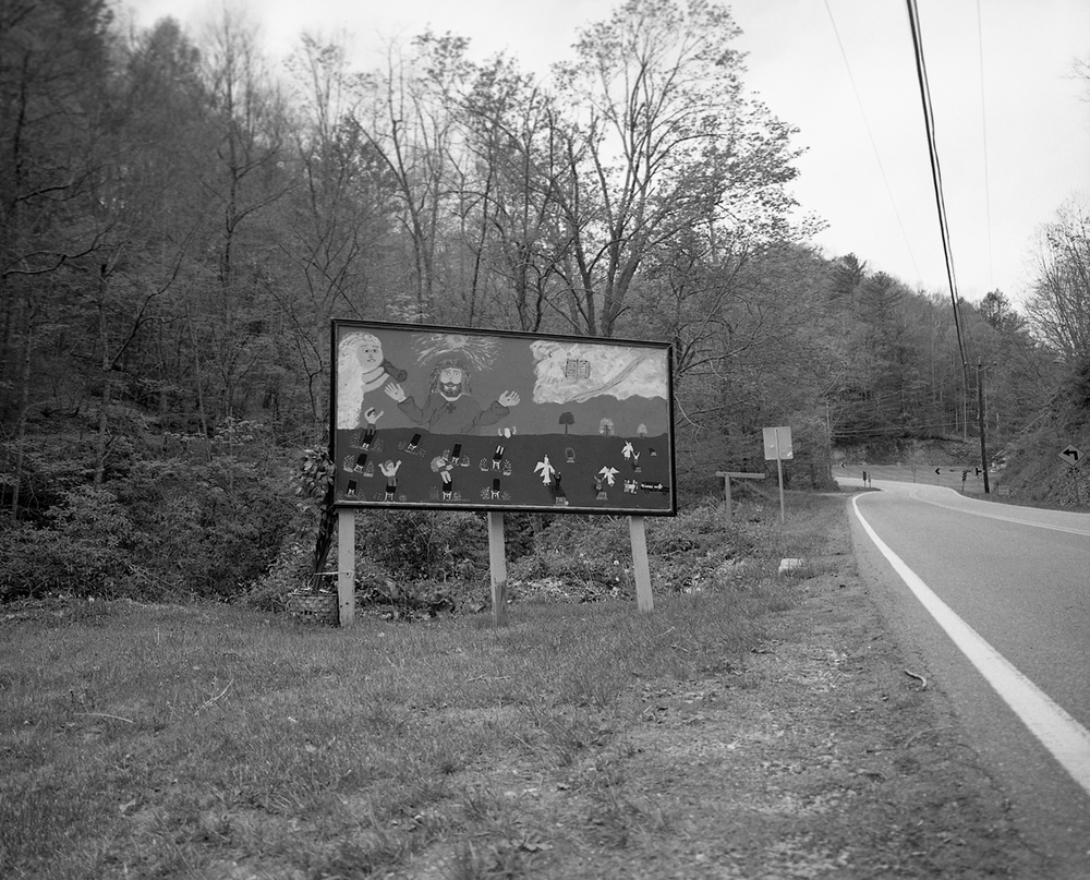 Mr. Church's Rapture Mural, Hampton, TN. 2015. Silver Gelatin Print.