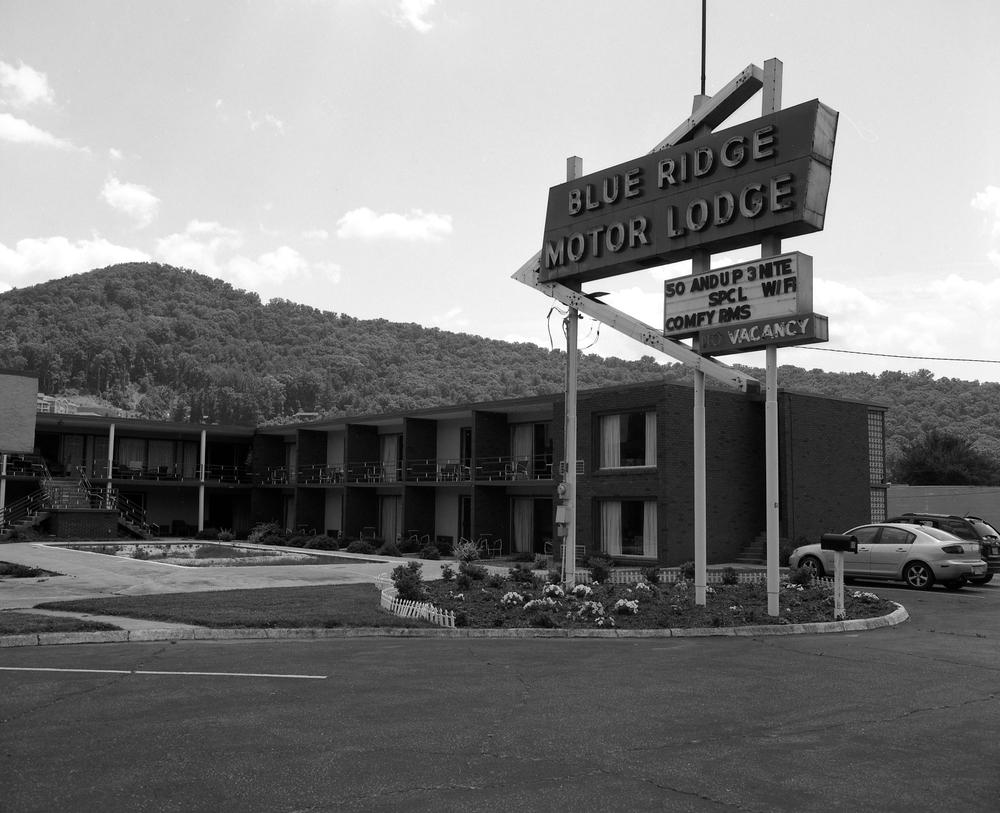 Blue Ridge Motor Lodge, Asheville, NC. 2013. Silver Gelatin Print.