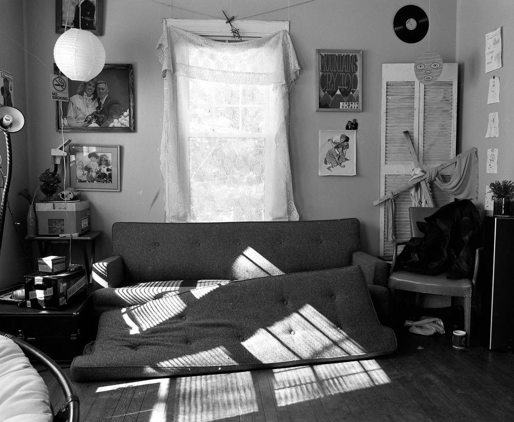 Urine Couch, Asheville, NC. 2013. Silver Gelatin Print.