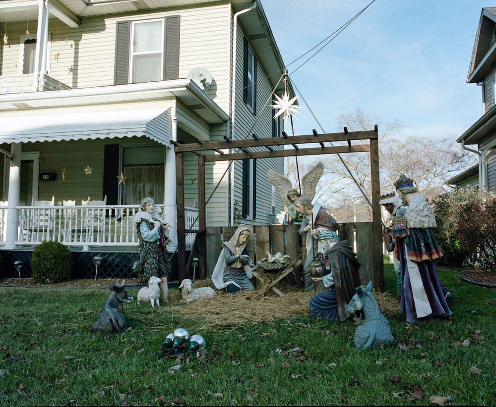 Manger Scene, Erwin, TN. 2013. C-Print.