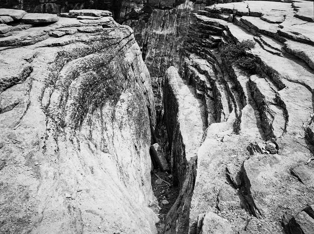 Fissures at Taft Point, Yosemite National Park. 2015. Silver Gelatin Print.