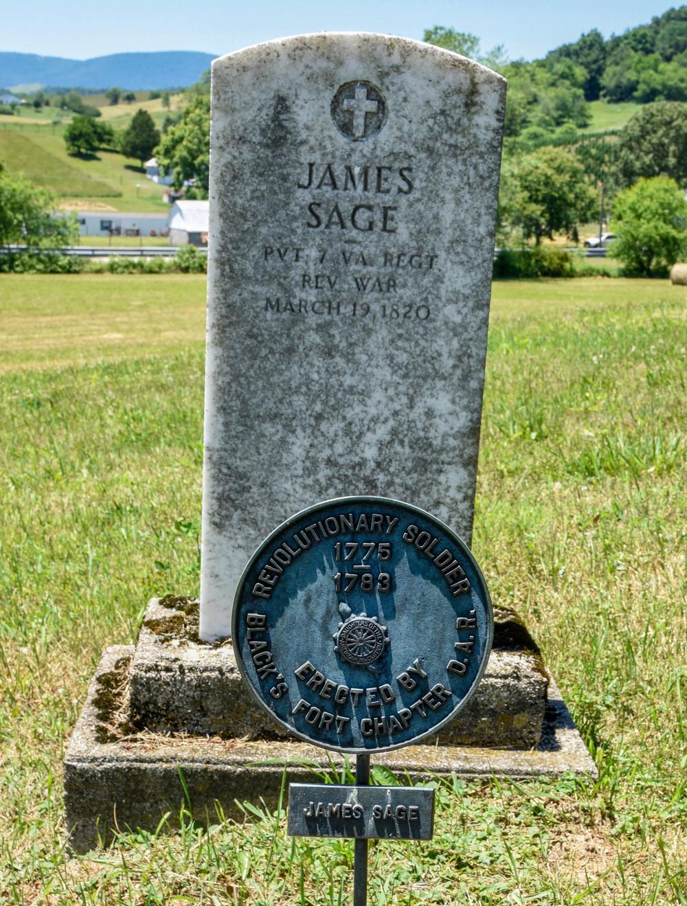 James Sage Grave Marker. Elk Creek, VA. Grayson County.