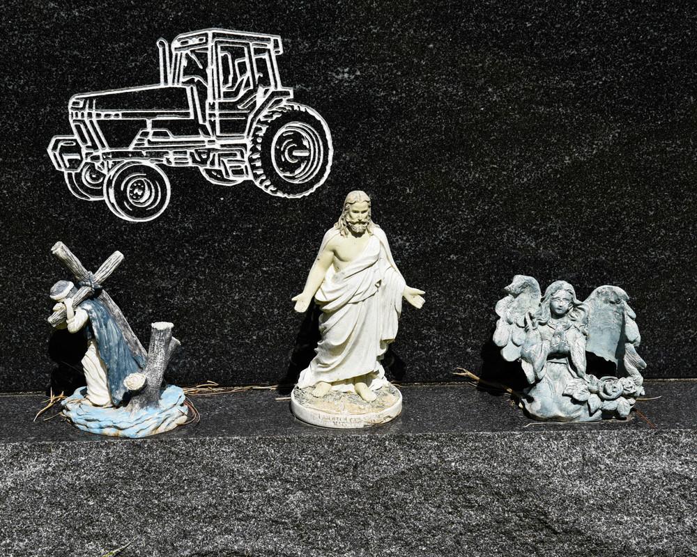 Tractor Jesus, Roan Mountain, TN. 2016. Digital Image.