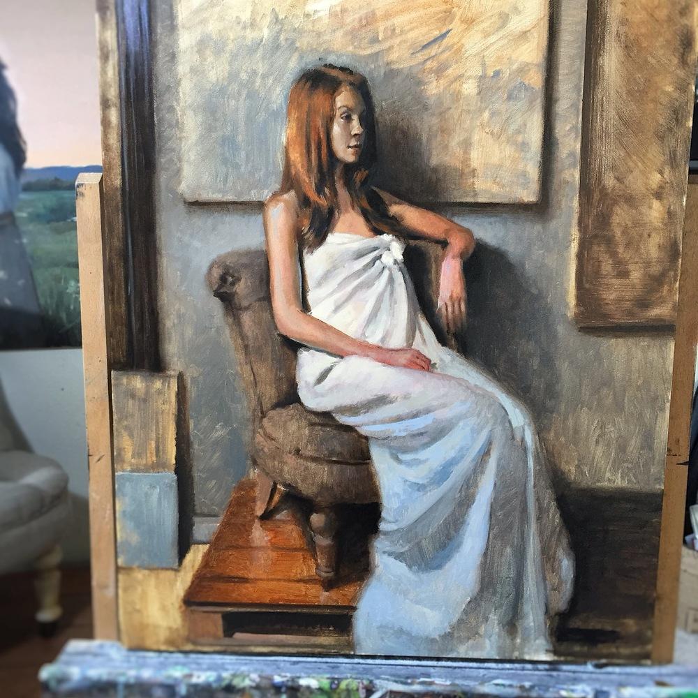 Seated Figure in Studio