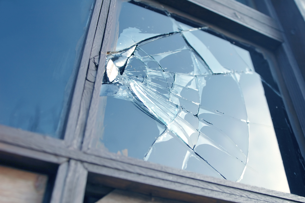 Damage Rental Property Window