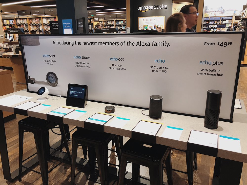 In 2017 Amazon added new members to the Alexa family: Echo Show, Echo Plus and Echo Spot. Growing a family of two to a family of five in less than 3 quarters called for a re-design of our family tables in store. I lead the concepting, cross-functional stakeholder and leadership buy in and final execution of these signs across multiple stores throughout the United States.