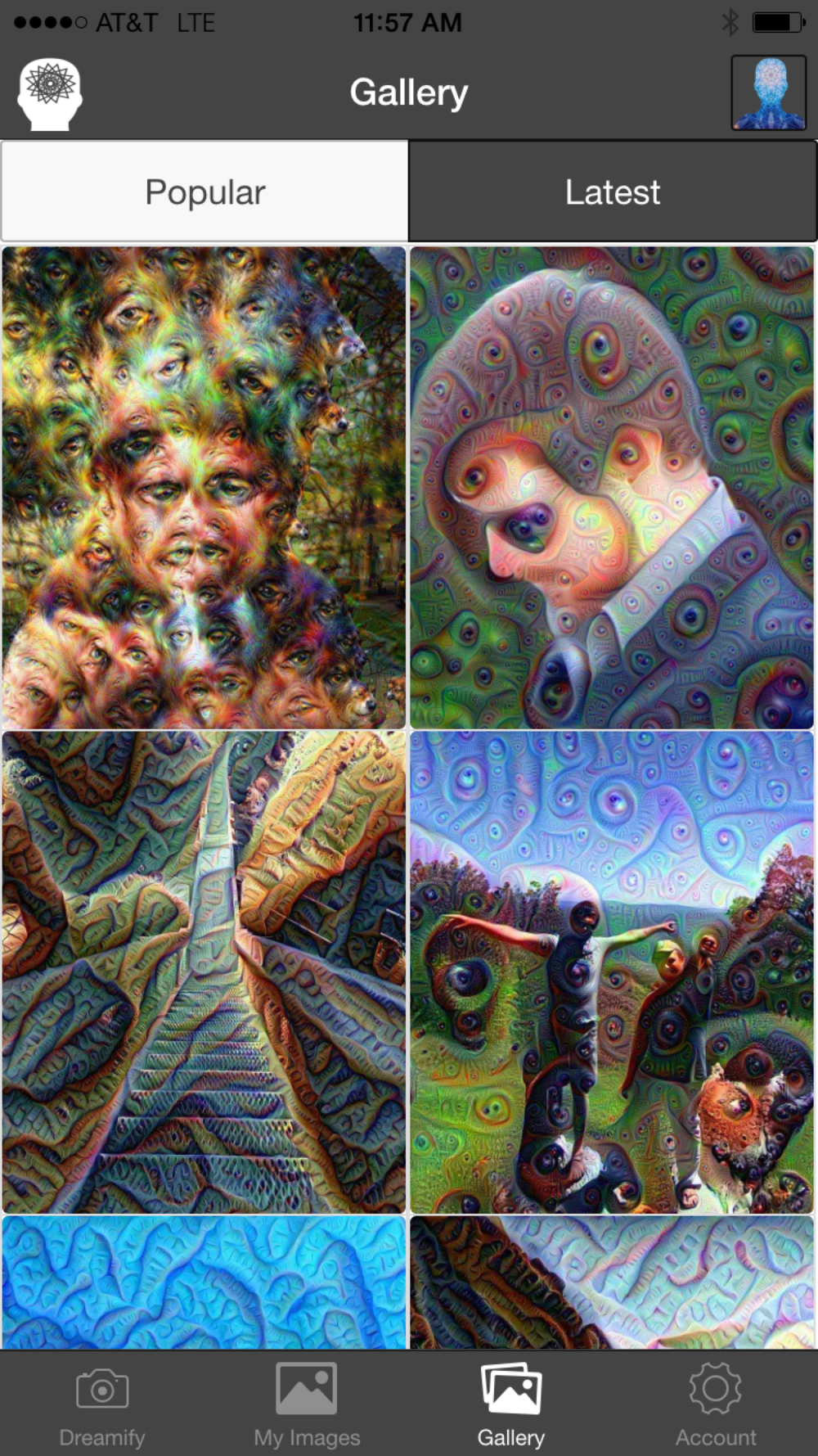"Levi Sharpe/ Popular Science The most loved Dreamify images can be seen under the ""Popular"" tab"